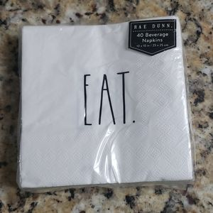 Rae Dunn 40 Count Beverage Napkins Eat.